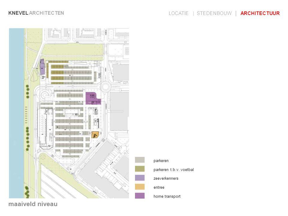 KNEVEL ARCHITECTEN LOCATIE | STEDENBOUW | ARCHITECTUUR parkeren parkeren t.b.v. voetbal zeeverkenners entree home transport maaiveld niveau