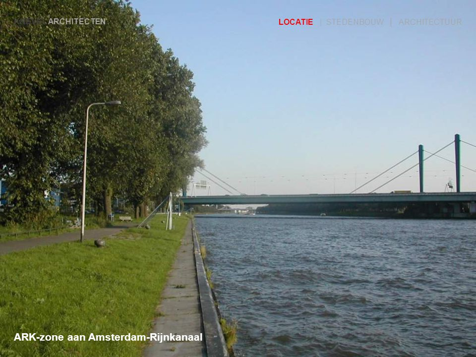ARK-zone gekeken vanaf Rijkswaterstaat richting zuiden KNEVEL ARCHITECTEN LOCATIE | STEDENBOUW | ARCHITECTUUR