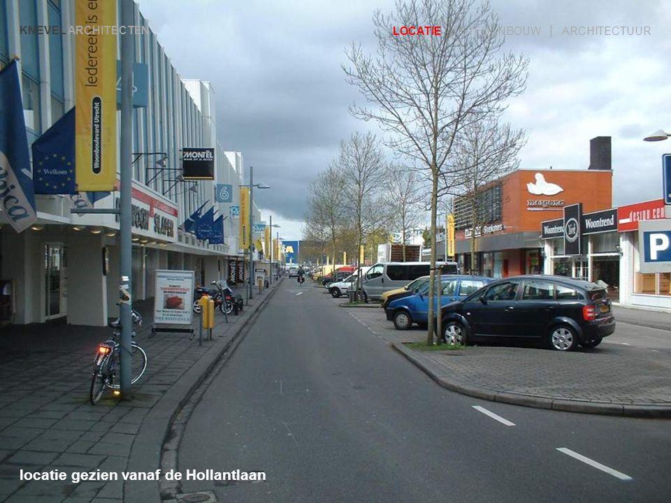 zicht vanaf driehoekig plein KNEVEL ARCHITECTEN LOCATIE | STEDENBOUW | ARCHITECTUUR