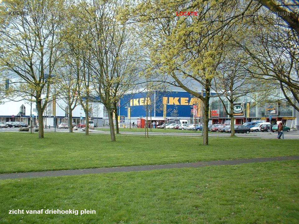 KNEVEL ARCHITECTEN LOCATIE | STEDENBOUW | ARCHITECTUUR entree IKEA gezien vanaf de Hollantlaan