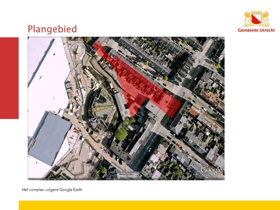 Het complex volgens Google Earth Plangebied