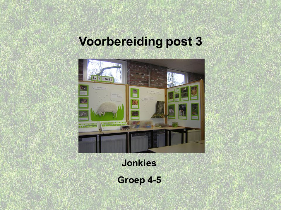 Voorbereiding post 3 Jonkies Groep 4-5