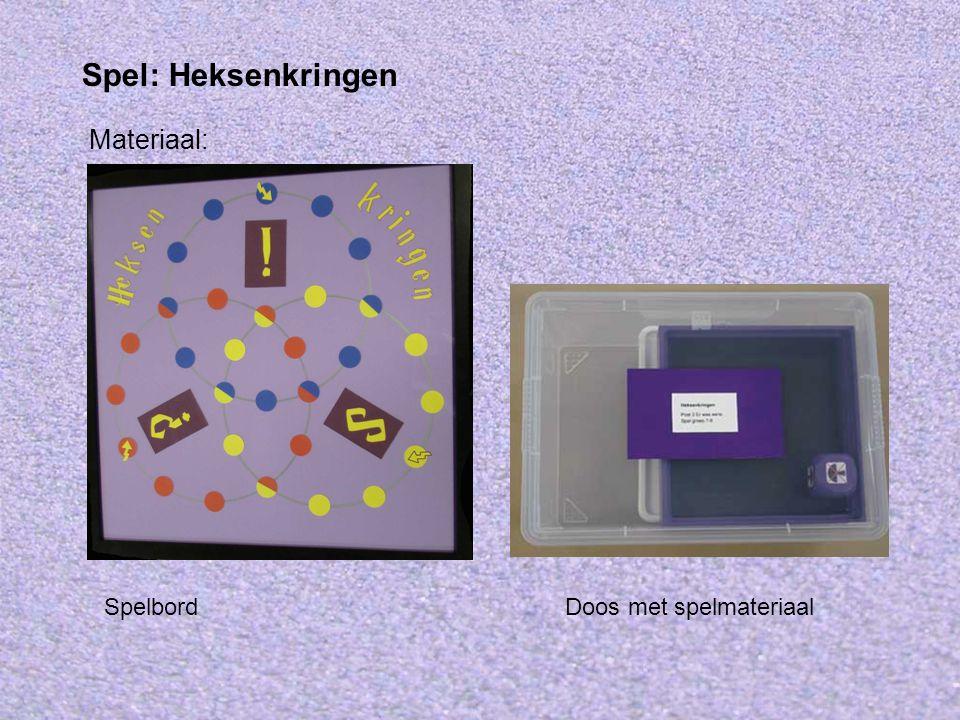 Materiaal: Spel: Heksenkringen Doos met spelmateriaalSpelbord