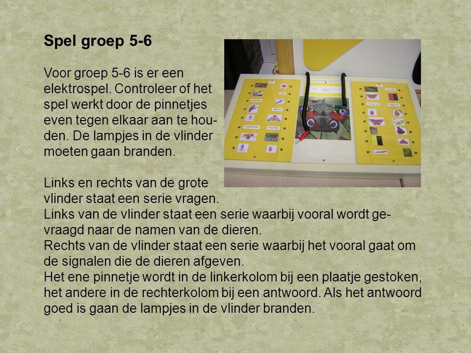 Spel groep 5-6 Voor groep 5-6 is er een elektrospel.