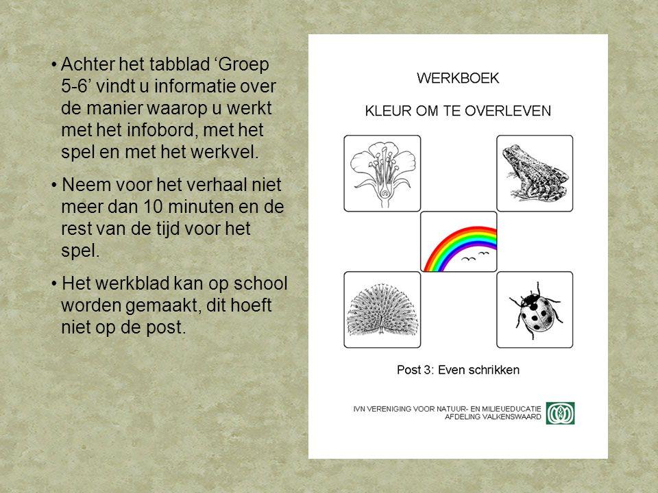 Het verhaal Op de post willen we de kinderen laten beseffen waarom sommige dieren felle kleuren hebben.