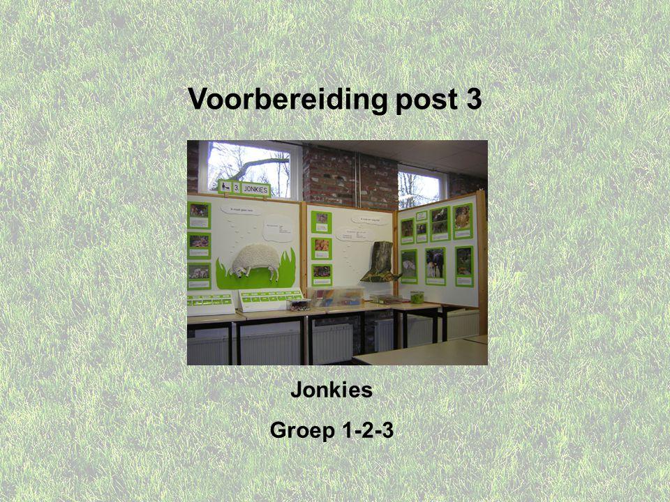 Voorbereiding post 3 Jonkies Groep 1-2-3