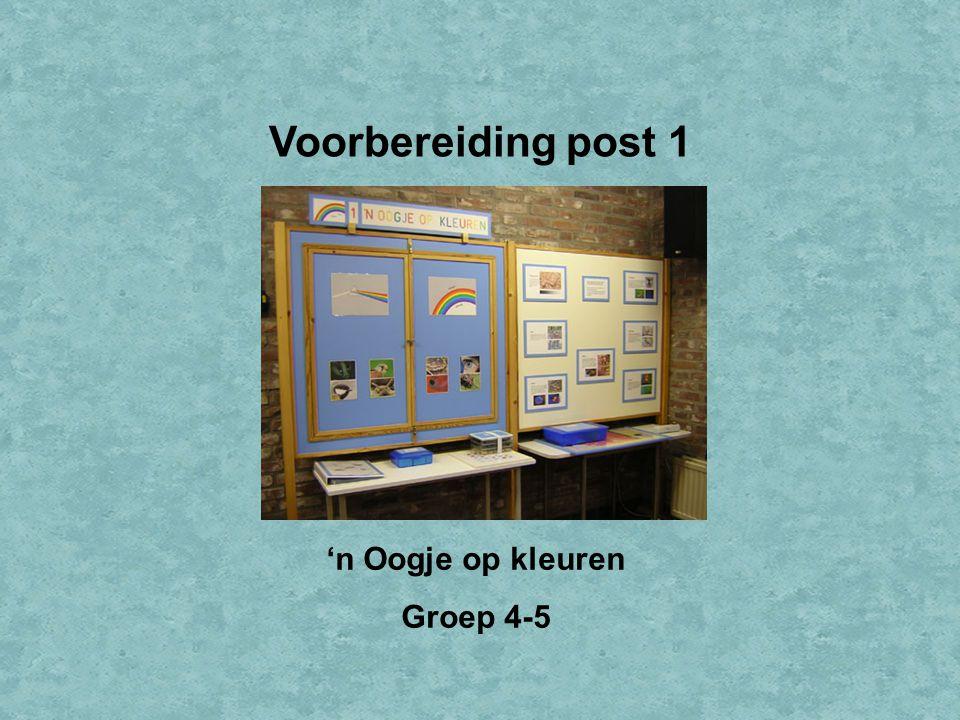 Welkom bij IVN Valkenswaard Dit is de Powerpointserie als voorbereiding op post 1: 'n Oogje op kleuren, voor groep 4 en 5.