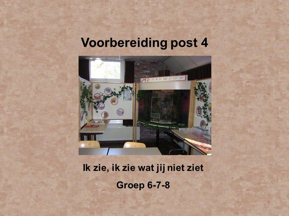 Voorbereiding post 4 Ik zie, ik zie wat jij niet ziet Groep 6-7-8