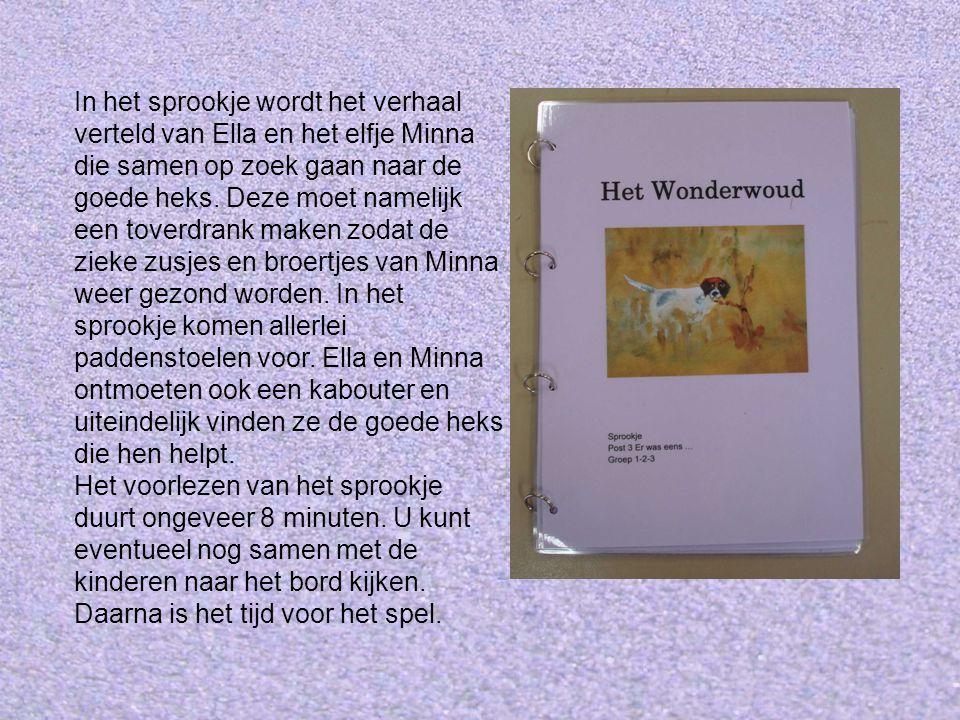 In het sprookje wordt het verhaal verteld van Ella en het elfje Minna die samen op zoek gaan naar de goede heks.