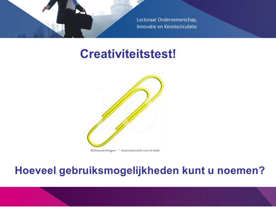 Hoeveel gebruiksmogelijkheden kunt u noemen? Creativiteitstest!