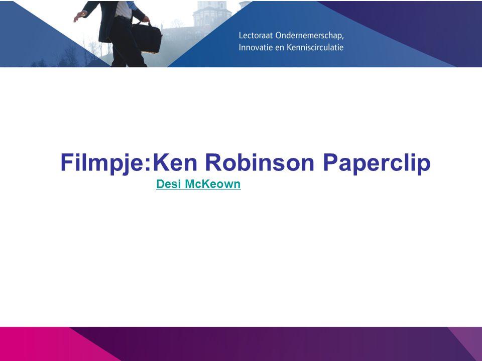 Filmpje:Ken Robinson Paperclip Desi McKeown