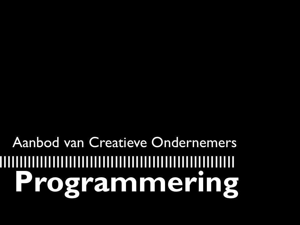 Aanbod van Creatieve Ondernemers IIIIIIIIIIIIIIIIIIIIIIIIIIIIIIIIIIIIIIIIIIIIIIIIIIIIIIIIIIII Programmering