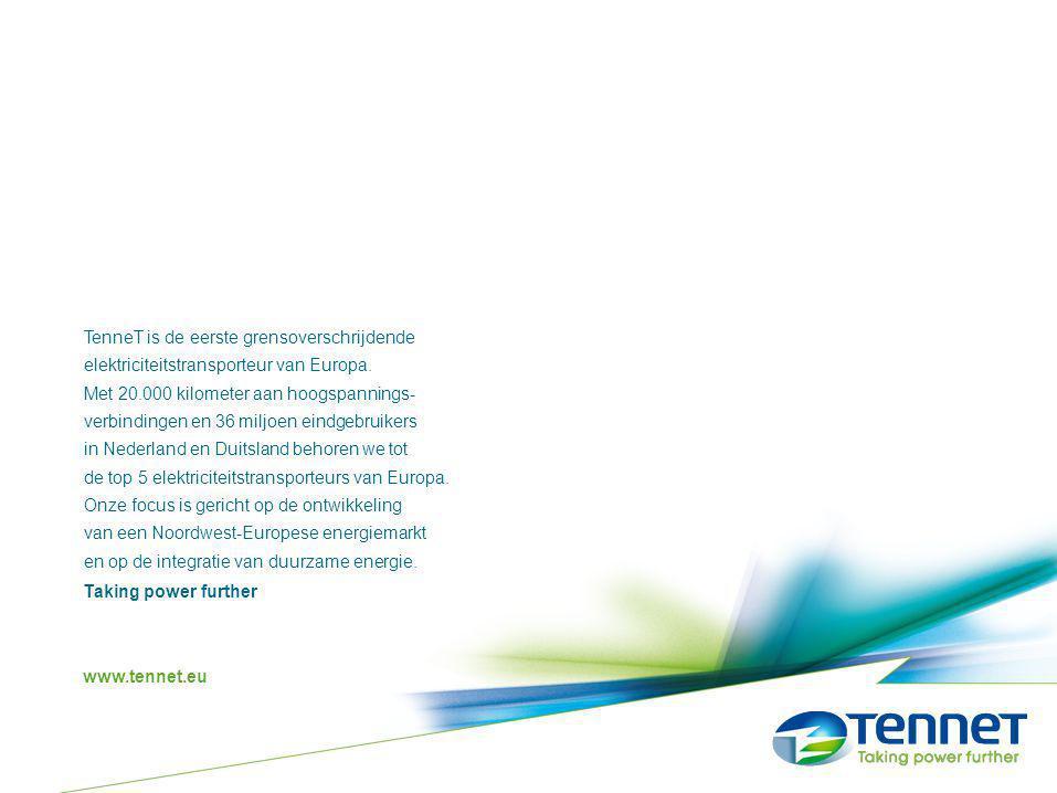 TenneT is de eerste grensoverschrijdende elektriciteitstransporteur van Europa. Met 20.000 kilometer aan hoogspannings- verbindingen en 36 miljoen ein