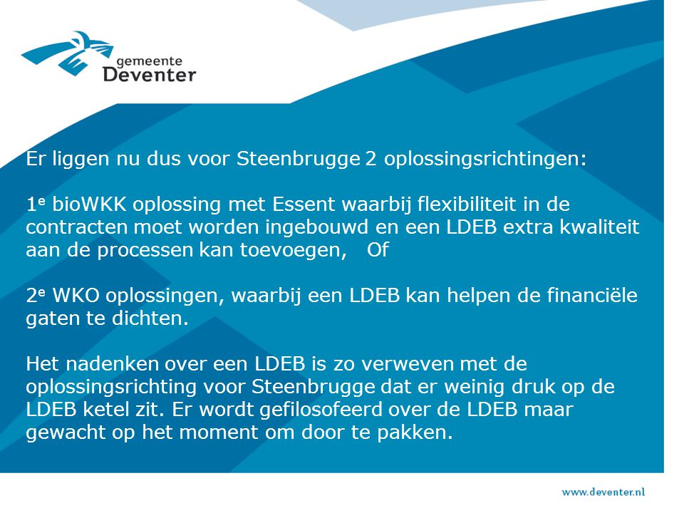 Visie Duurzaam Deventer: speerpunten  Klimaat: Deventer C02-neutraal in 2030