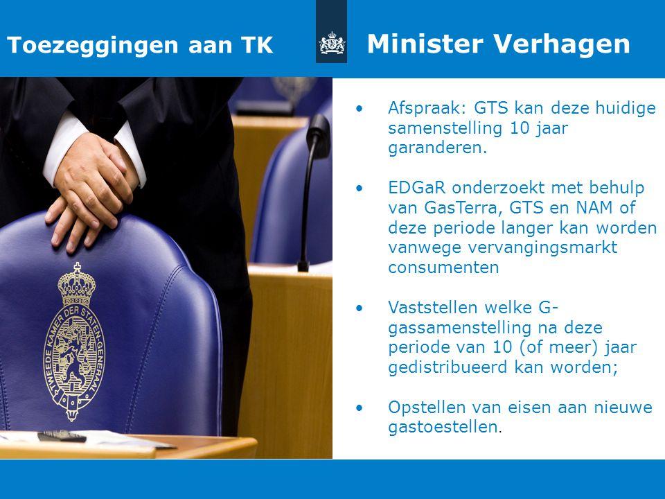 Titel van de presentatie | 20 oktober 2010 Ministerie van Economische Zaken, Landbouw en Innovatie 15 Toezeggingen aan TK Minister Verhagen Afspraak: