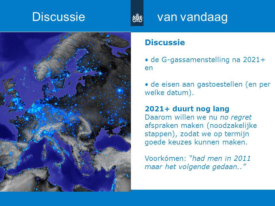 Titel van de presentatie | 20 oktober 2010 Ministerie van Economische Zaken, Landbouw en Innovatie 17 Discussie de G-gassamenstelling na 2021+ en de e
