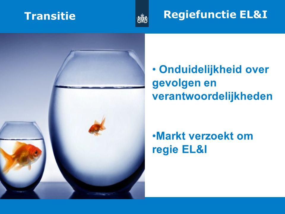 Titel van de presentatie | 20 oktober 2010 Ministerie van Economische Zaken, Landbouw en Innovatie 5 Regiefunctie EL&I Onduidelijkheid over gevolgen e