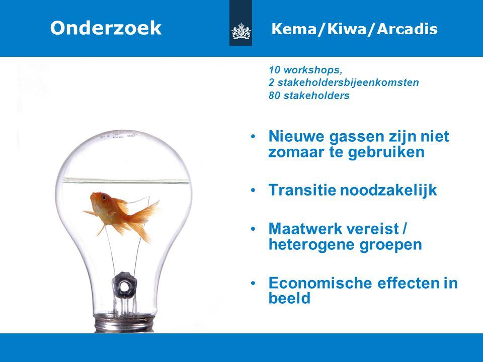 Titel van de presentatie | 20 oktober 2010 Ministerie van Economische Zaken, Landbouw en Innovatie 7 Onderzoek Kema/Kiwa/Arcadis 10 workshops, 2 stake