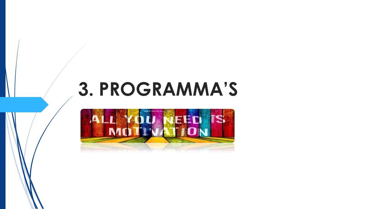 3.Bestaande programma's Inhoud. Doelstellingen. Positieve punten.