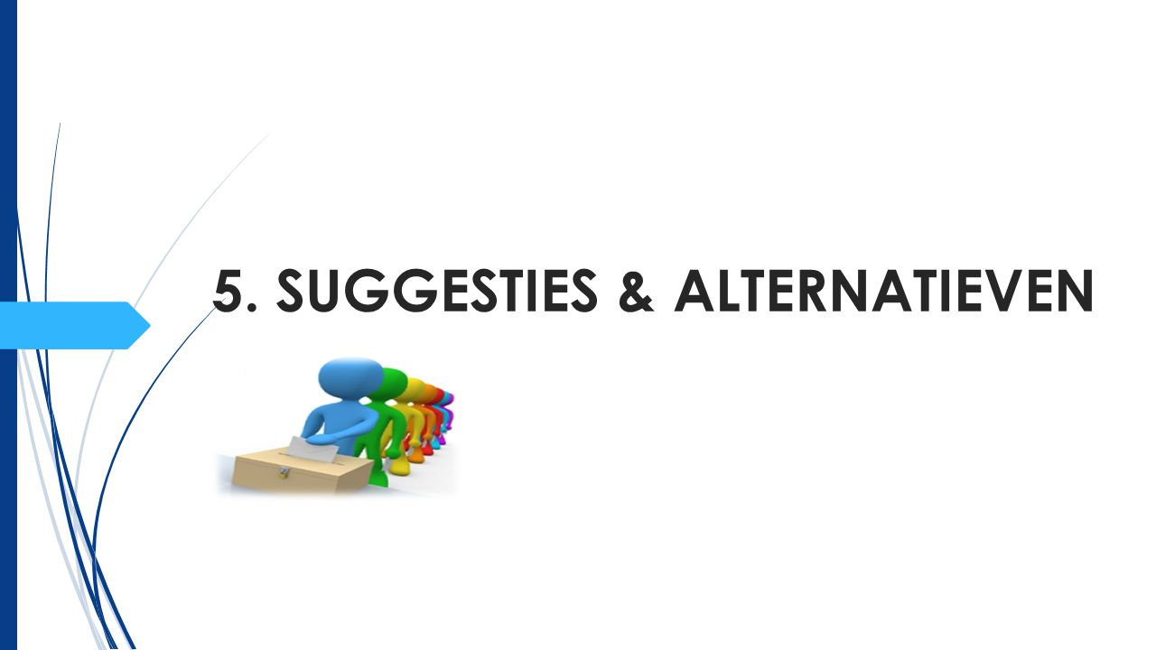 5. SUGGESTIES & ALTERNATIEVEN