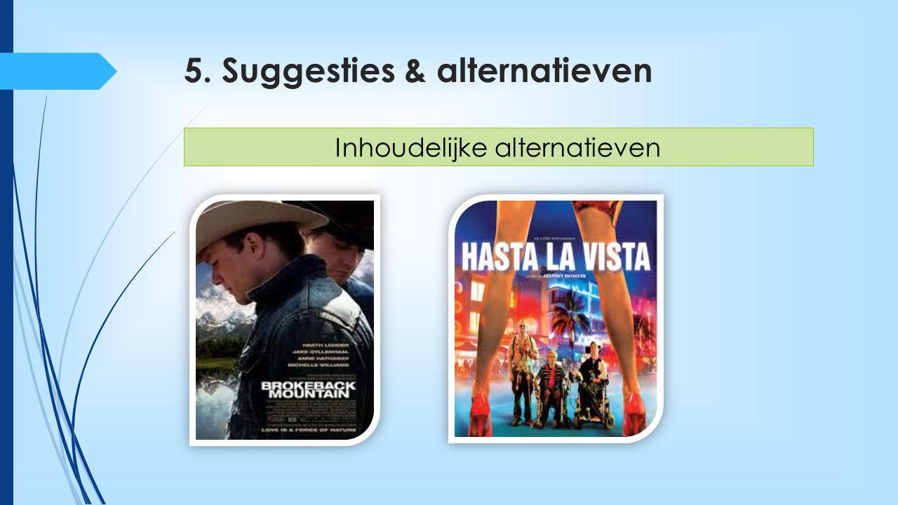 5. Suggesties & alternatieven  VOET-werkgroepen  Aanvullende vormingen Beleidsgerichte suggesties