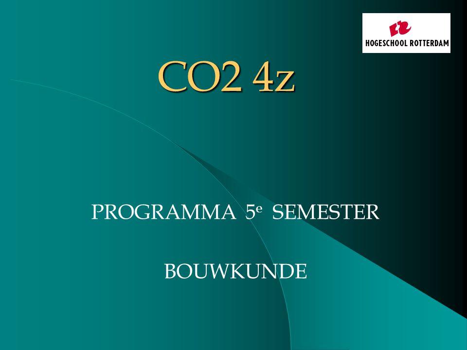 CO2 4z PROGRAMMA 5 e SEMESTER BOUWKUNDE