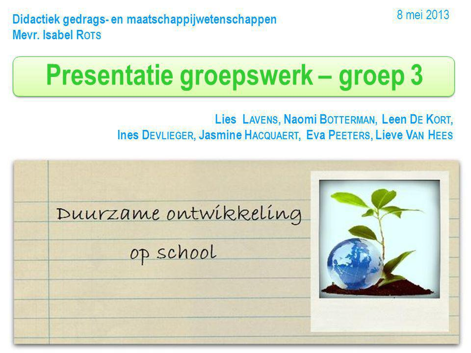 Inhoud presentatie 1.Keuze school en thema 2.Analyse beginsituatie school 3.Implementatie 4.Evaluatie 5.Conclusie