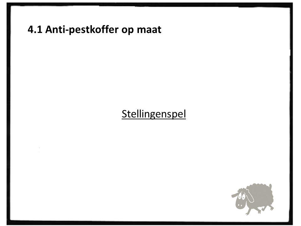 4.1 Anti-pestkoffer op maat Stellingenspel