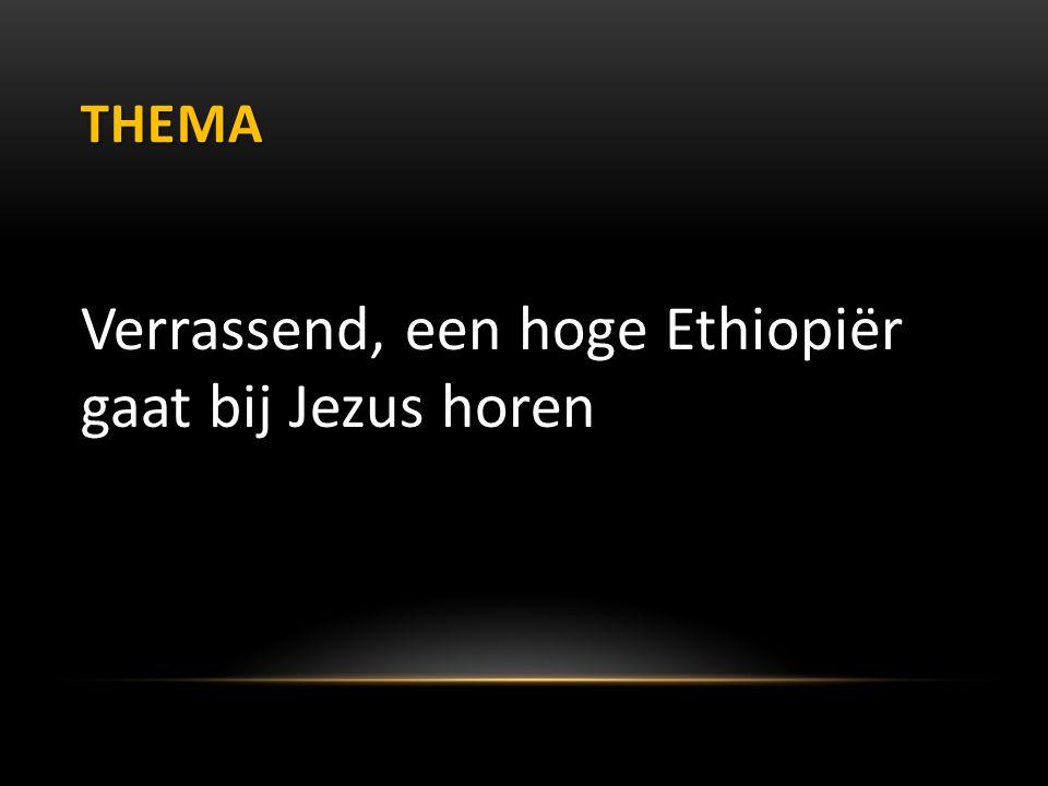 THEMA Verrassend, een hoge Ethiopiër gaat bij Jezus horen