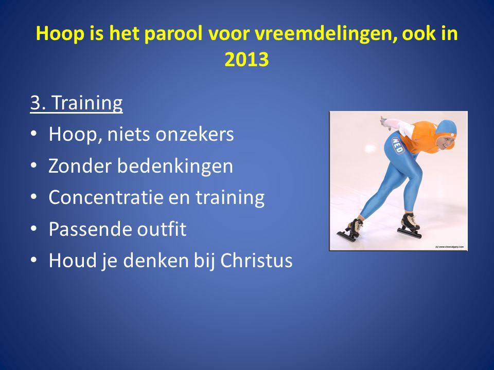 Hoop is het parool voor vreemdelingen, ook in 2013 4.