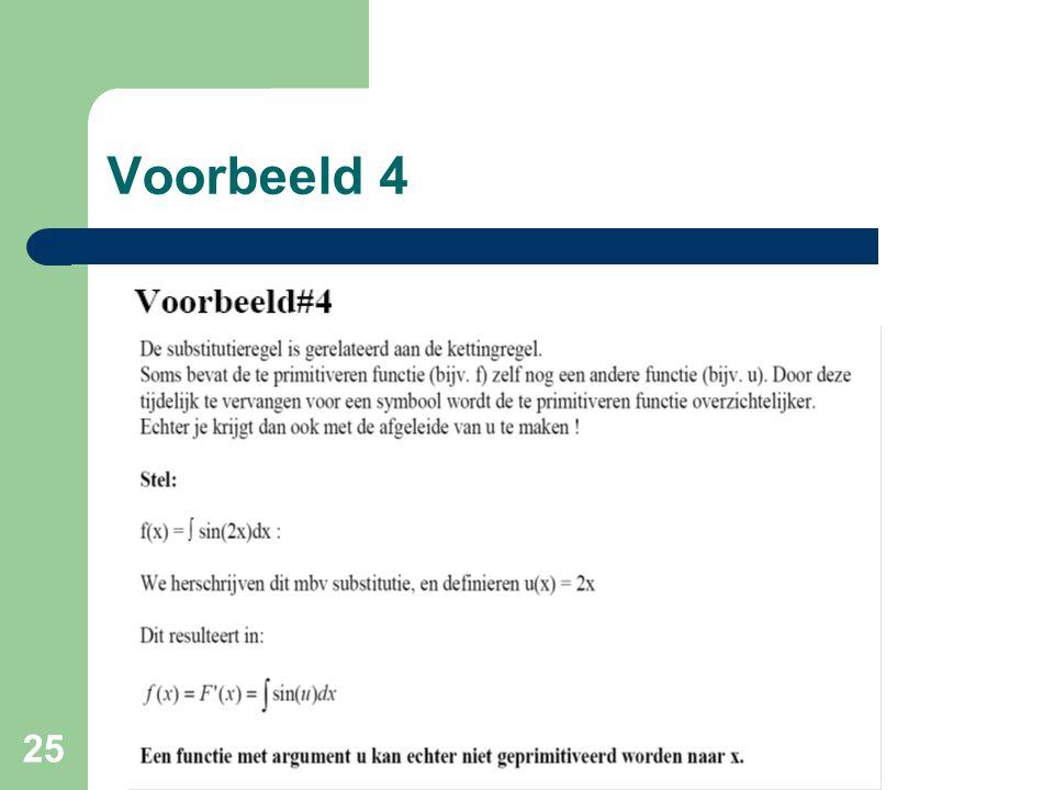 25 Voorbeeld 4