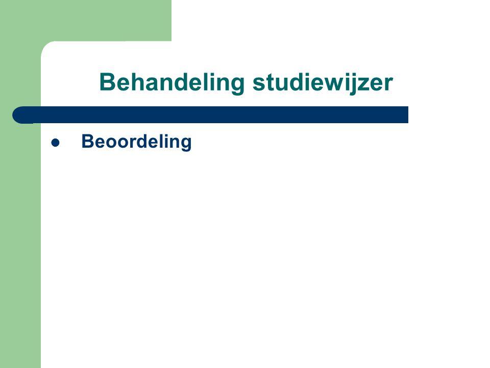 Behandeling studiewijzer Beoordeling