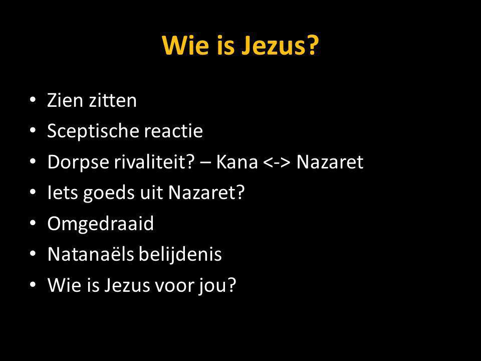 Wie is Jezus.Zien zitten Sceptische reactie Dorpse rivaliteit.
