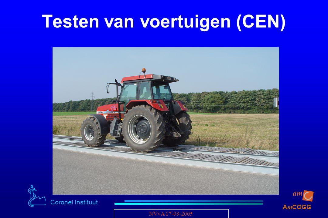 Coronel Instituut A m COGG NVvA 17-03-2005 Testen van voertuigen (CEN)