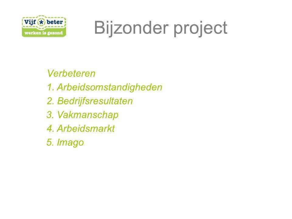 Verbeteren Bijzonder project 1. Arbeidsomstandigheden 2.