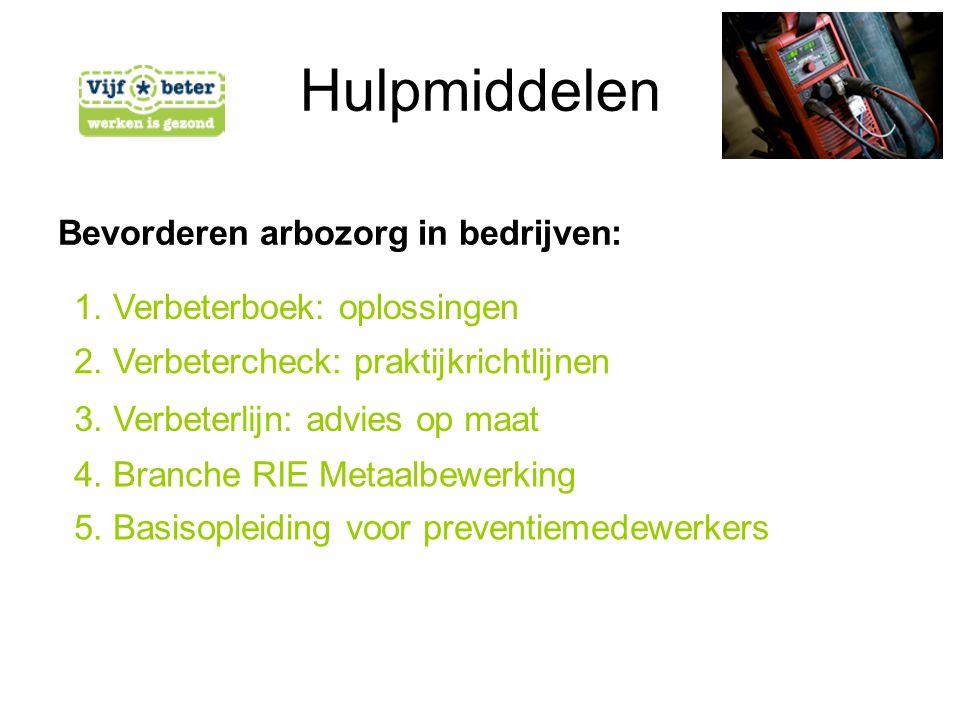 Hulpmiddelen Bevorderen arbozorg in bedrijven: 2. Verbetercheck: praktijkrichtlijnen 3.