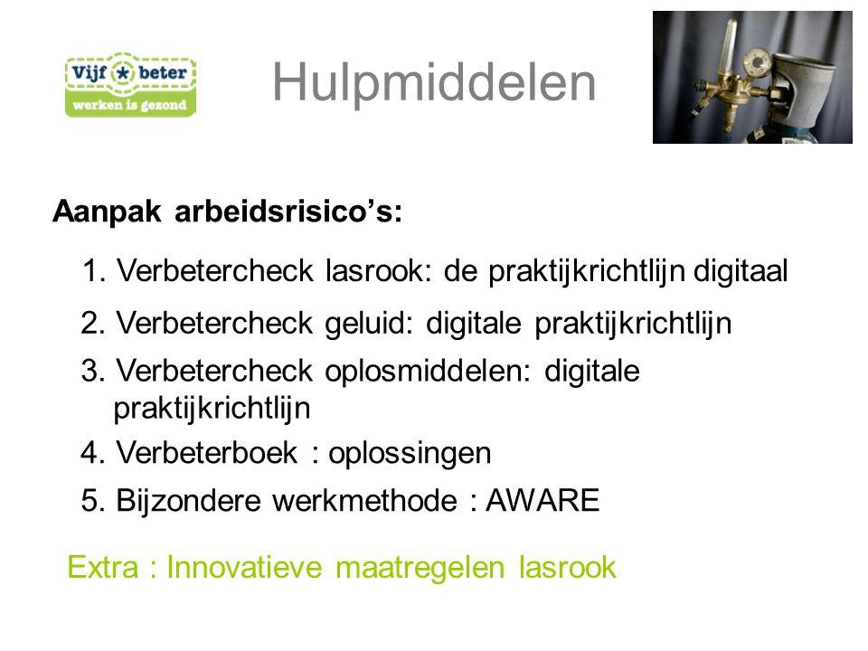 Aanpak arbeidsrisico's: 1. Verbetercheck lasrook: de praktijkrichtlijn digitaal 2.