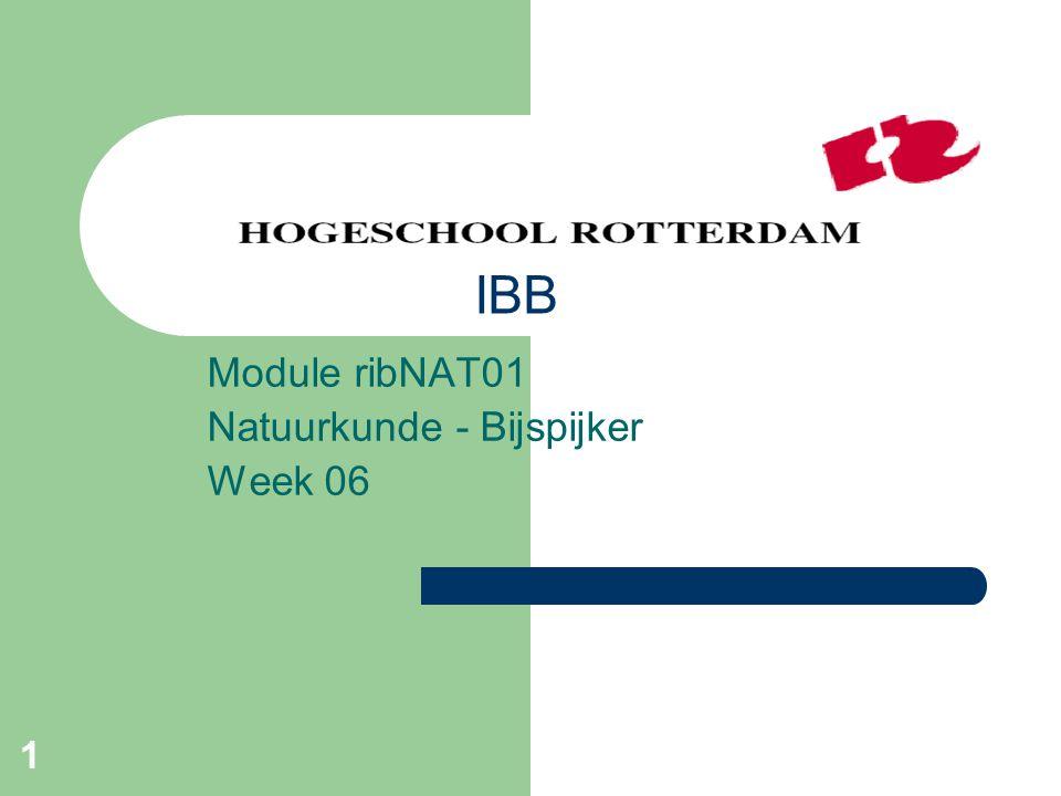 1 Module ribNAT01 Natuurkunde - Bijspijker Week 06 IBB