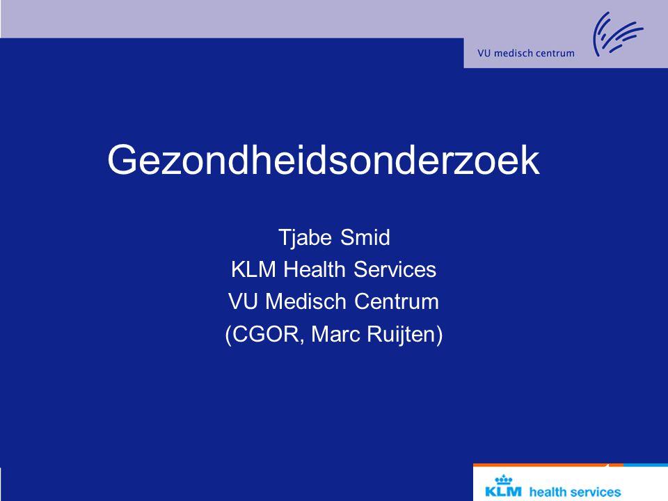 2 Inhoud Casus: de Bijlmerramp Gezondheidseffecten Doelen Soorten onderzoek Het CGOR