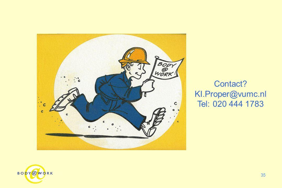 35 Contact? KI.Proper@vumc.nl Tel: 020 444 1783