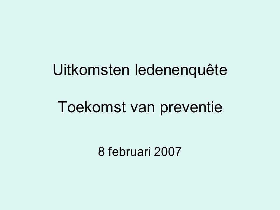 Uitkomsten ledenenquête Toekomst van preventie 8 februari 2007
