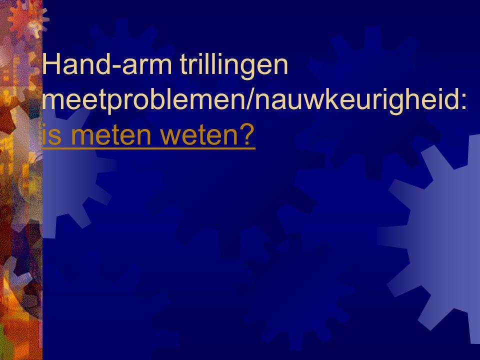Hand-arm trillingen meetproblemen/nauwkeurigheid: is meten weten? is meten weten?