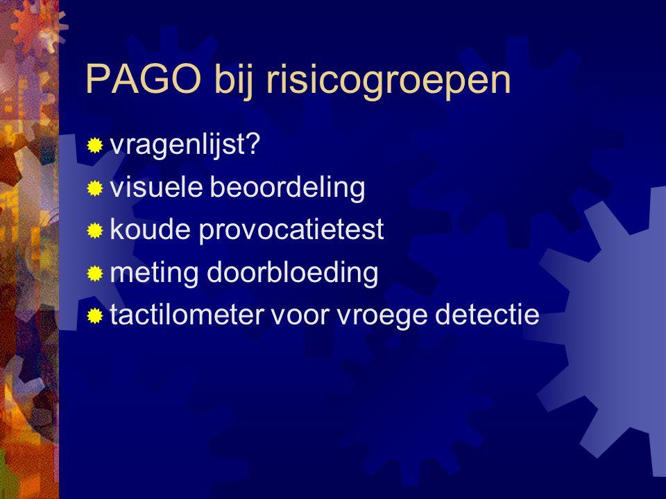 PAGO bij risicogroepen  vragenlijst.