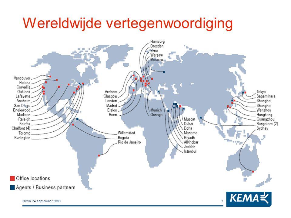 NVVK 24 september 20093 Wereldwijde vertegenwoordiging