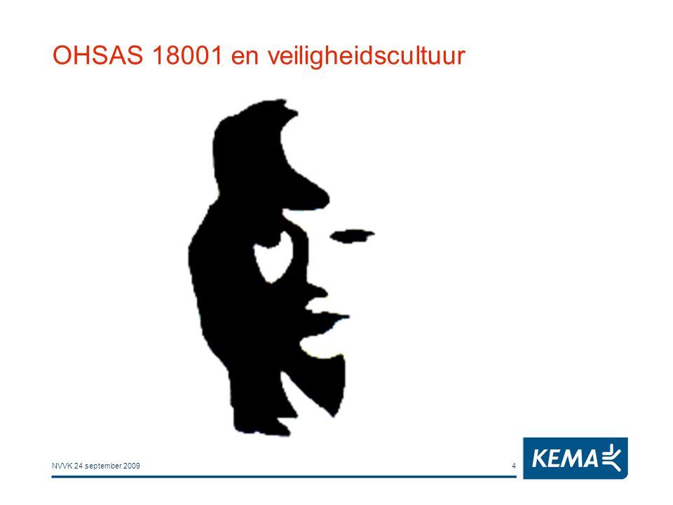 NVVK 24 september 20094 OHSAS 18001 en veiligheidscultuur