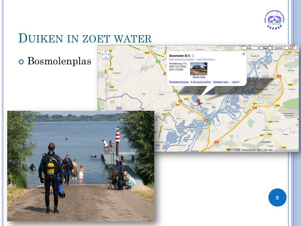 D UIKEN IN ZOET WATER Bosmolenplas 5 3 Sters / Divemaster Hoofdstuk 3
