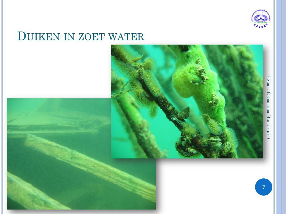 D UIKEN IN ZOET WATER 7 3 Sters / Divemaster Hoofdstuk 3
