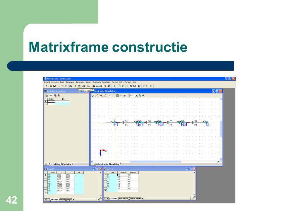 42 Matrixframe constructie