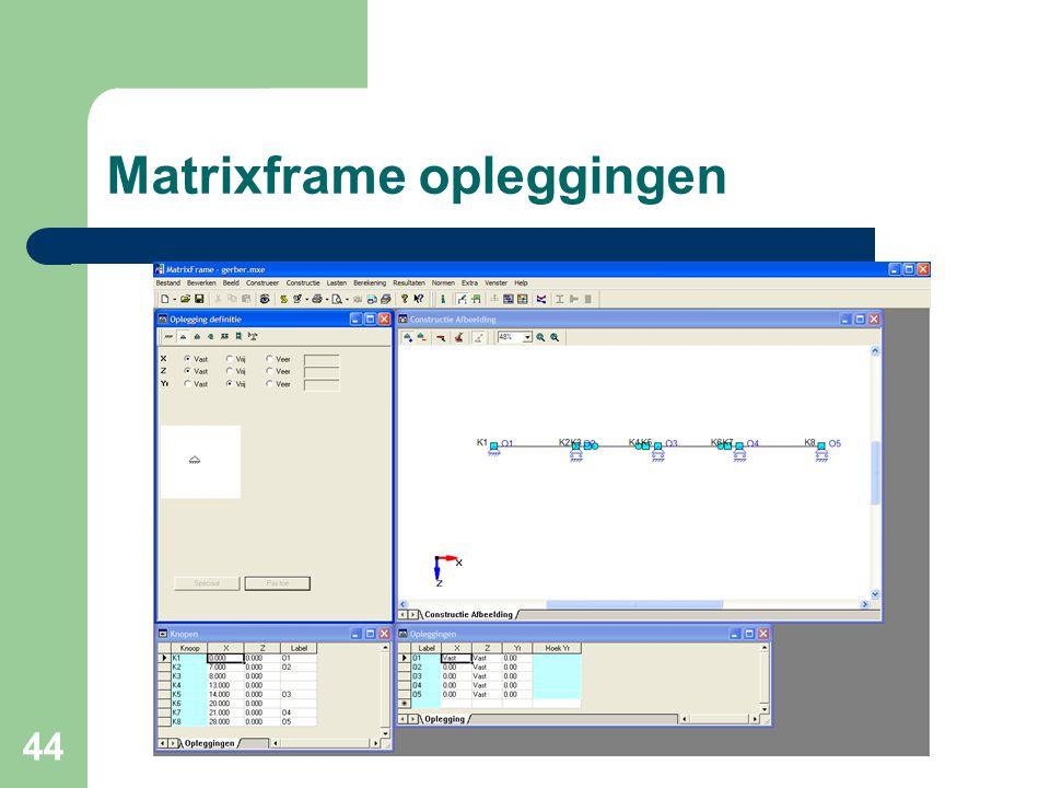 44 Matrixframe opleggingen