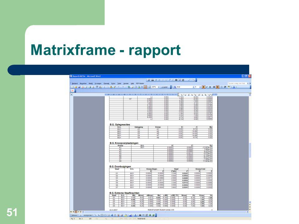 51 Matrixframe - rapport
